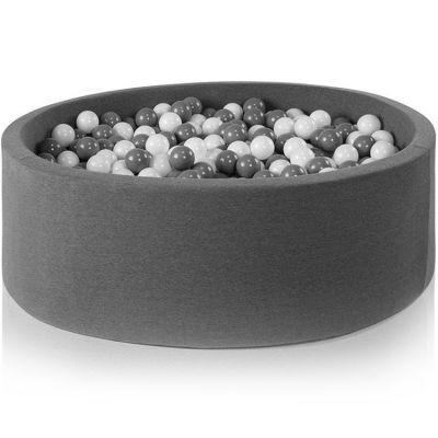 Piscine à balles ronde gris foncé personnalisable (115 x 40 cm)
