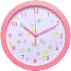 Horloge rose Confetti