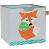 Cube de rangement jouets Little Tree Renard (32,5 x 33,5 cm) - Lässig