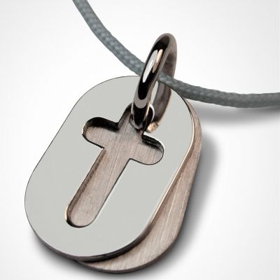 Collier cordon 'Amen' (or blanc 750°)  par Mikado