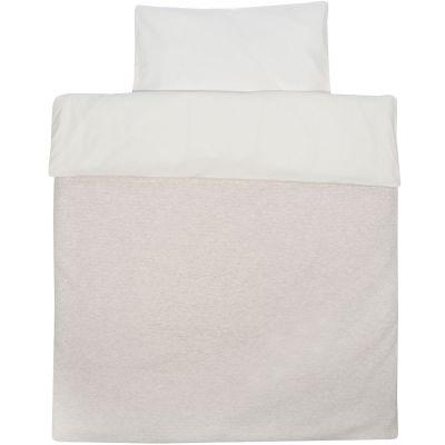 Housse de couette et taie pour lit bb sand beige 110 x for Housse de couette pour lit 140