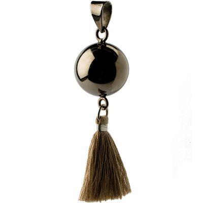 Bola pompon marron (métal noir)  par Bola