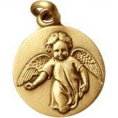 Médaille Ange marchant (plaqué or) - Martineau