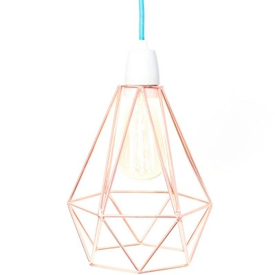 Lampe baladeuse Diamond 1 bronze et bleu  par FilamentStyle