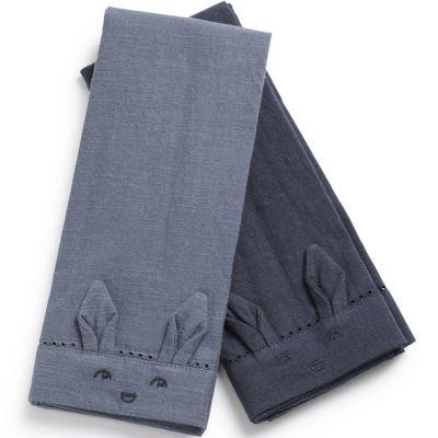 Lot de 2 serviettes de table Tender Blue / Juniper Blue  par Elodie Details
