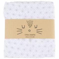 Maxi lange en coton bio étoiles Pompom (120 x 120 cm)