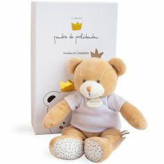 Coffret peluche Ours petit roi Poudre de PerliCoffret doudou (25 cm)