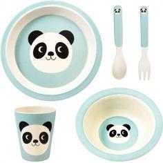 Coffret repas en bambou Miko le panda (5 pièces)