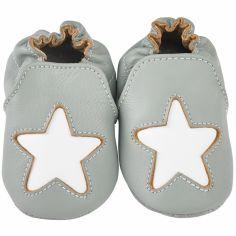 Chaussons cuir Cocon étoile gris (12-18 mois)