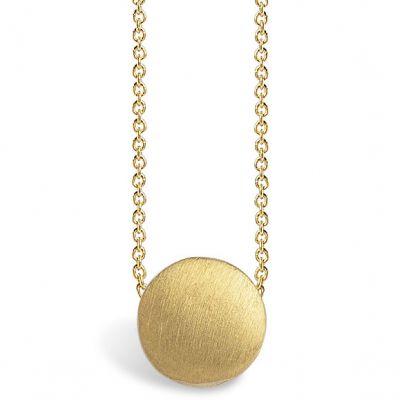 Collier chaîne 40 cm pendentif Full sun 07 mm (vermeil doré)  par Coquine