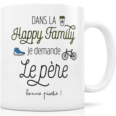 Mug en céramique Dans la Happy Family je demande le père