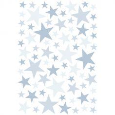 Stickers étoiles sweet bleu (29,7 x 42 cm)