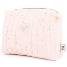 Trousse de toilette Travel rose pâle Gold stella