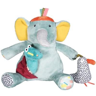 Peluche Ziggy l'éléphant d'activités Jungle Boogie Ebulobo