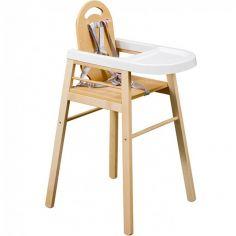 Chaise haute Lili en bois massif