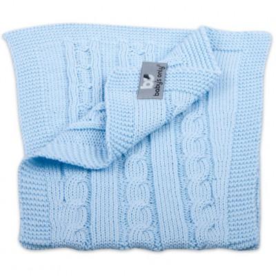 Bavoir protection d'épaules Cable Uni bleu ciel Baby's Only