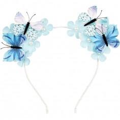 Serre-tête papillon Scottie bleu