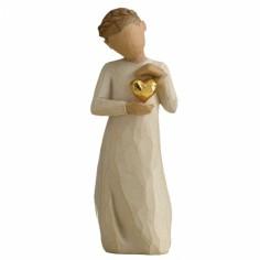 Statuette personnage Coeur en or (résine)