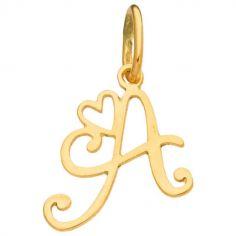 Pendentif initiale A (or jaune 750°)