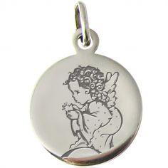 Médaille Ange pois 14 mm (argent 925°)