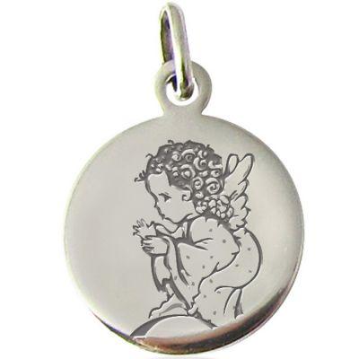 Médaille Ange pois 14 mm (argent 925°)  par Martineau