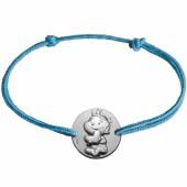 Bracelet cordon enfant Rêveur (or blanc 375°) - La Fée Galipette