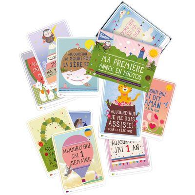 Cartes étapes de bébé Ma première année (30 cartes)