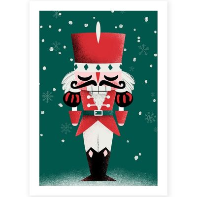 Affiche A4 Noël Casse-Noisette  par Kanzilue