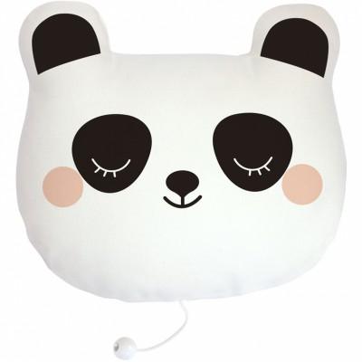 Coussin musical Billy le panda (19 x 19 cm) Zü