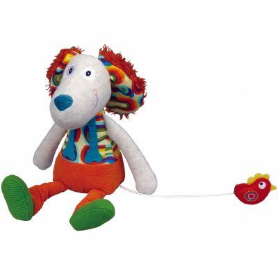 Peluche musicale Antoine le chien La Happy Farm (30 cm) Ebulobo