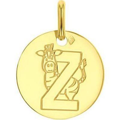 Médaille Z comme zèbre personnalisable (or jaune 750°)