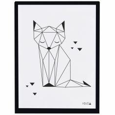 Affiche encadrée renard Origami play by Claudia Soria (30 x 40 cm)