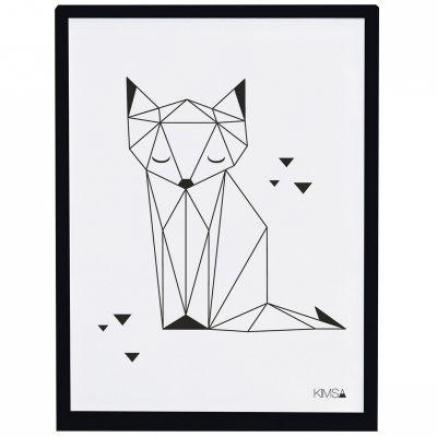 Affiche encadrée renard Origami play by Claudia Soria (30 x 40 cm)  par Lilipinso