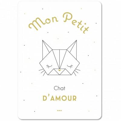 Carte Origami petit chat (15 x 21 cm) Mes Mots Déco