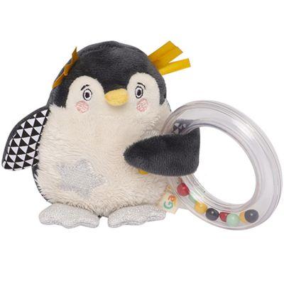 Hochet anneau à billes pingouin Les Nanouks  par Galipette