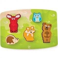 Puzzle à encastrement tactile animaux de la forêt (5 pièces)