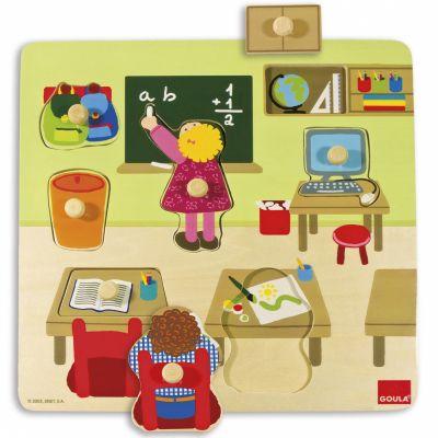 Puzzle à encastrement École (7 pièces)  par Goula