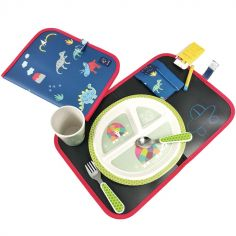 Set de table ardoise pliable Dinosaure