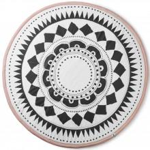 Tapis de jeu rond Graphic Devotion rose et noir (120 cm)  par Elodie Details