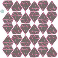 Sticker Diamants gris et rose (modèle intermédiaire)