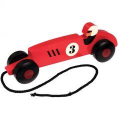 Voiture en bois à tirer Vintage racer