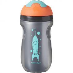 Tasse à bec isotherme Sippee cup grise et bleue