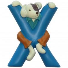 Lettre en résine X
