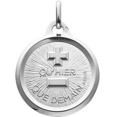 Médaille d'Amour L'originale (or blanc 750°)  par A.Augis