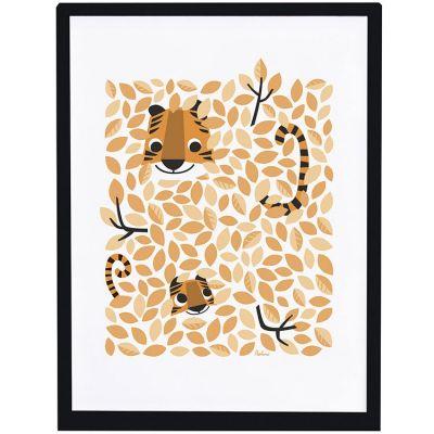 Affiche encadrée Hide & Seek tigre (30 x 40 cm)  par Lilipinso