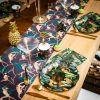 Lot de 8 assiettes en carton Jungle Fever  par Arty Fêtes Factory