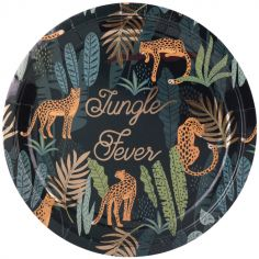 Lot de 8 assiettes en carton Jungle Fever