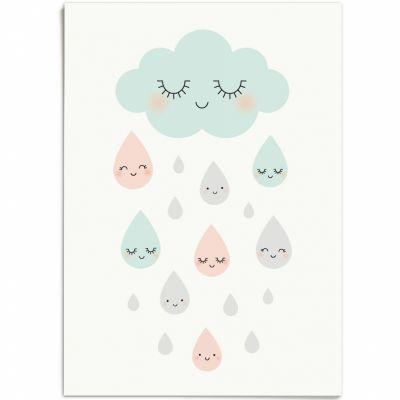 Affiche A3 Douce pluie  par Zü