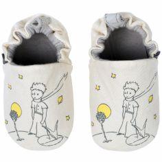 Chaussons en coton et cuir Le Petit Prince et le renard (6-12 mois)