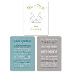 Lot de 3 cartes Petit chat (15 x 21 cm)